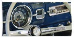 1965 Volkswagen Vw Beetle Steering Wheel Bath Towel