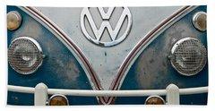 1965 Vw Volkswagen Bus Hand Towel by Jani Freimann