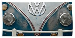 1965 Vw Volkswagen Bus Bath Towel by Jani Freimann
