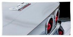1967 Chevrolet Corvette Coupe Taillight Emblem Bath Towel