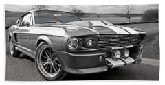 1967 Eleanor Mustang In Black And White Bath Towel