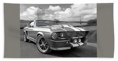 1967 Eleanor Mustang In Black And White Hand Towel