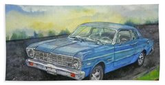 1967 Ford Falcon Futura Hand Towel by Anna Ruzsan