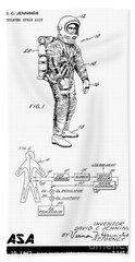 1967 Nasa Astronaut Ventilated Space Suit Patent Art 3 Hand Towel