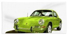 Porsche 911 Sportscar Bath Towel by Jack Pumphrey
