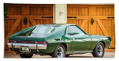 Bath Towel featuring the photograph 1969 Amc Amx -0100c by Jill Reger