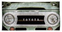 1969 Toyota Fj-40 Land Cruiser Grille Emblem -0444ac Bath Towel