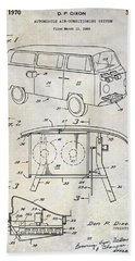 1970 Vw Patent Drawing Bath Towel