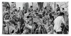 1970s April 22 1970 Crowd Attending Bath Towel