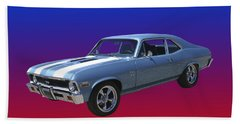 1971 Chevy Nova S S Hand Towel by Jack Pumphrey