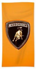 1971 Lamborghini Miura Sv Emblem -0376c45 Bath Towel
