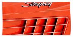 1972 Chevrolet Corvette Stingray Emblem 3 Bath Towel