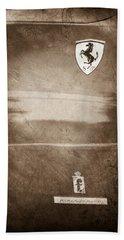 1972 Ferrari 365 Gtc-4 Emblems Bath Towel