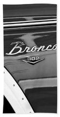 1972 Ford Bronco Emblem Bath Towel