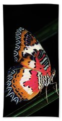 1990s Colorful Malay Lacewing Butterfly Bath Towel