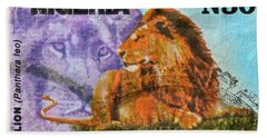 1993 Nigerian Lion Stamp Bath Towel