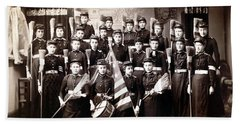 19th C. Female Cadets Armed With Brooms Hand Towel