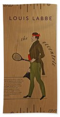 19th Century Tennis Player 2 Hand Towel by Maj Seda