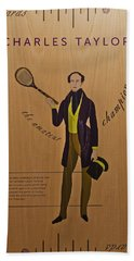 19th Century Tennis Player 3 Hand Towel by Maj Seda