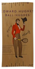 19th Century Tennis Player Hand Towel by Maj Seda