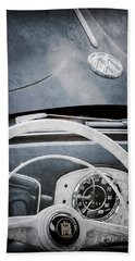 1951 Volkswagen Vw Beetle Cabriolet Steering Wheel Emblem - Hood Emblem Bath Towel