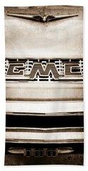 1956 Gmc 100 Deluxe Edition Pickup Truck Emblem Bath Towel