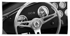 1965 Ac Cobra Steering Wheel Emblem Bath Towel