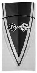 1967 Chevrolet Corvette Coupe Hood Emblem Bath Towel
