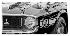 1969 Shelby Cobra Gt500 Front End - Grille Emblem Hand Towel by Jill Reger