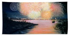 4th Of July Gloucester Harbor Hand Towel
