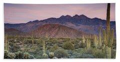 A Desert Sunset  Hand Towel