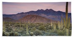 A Desert Sunset  Bath Towel