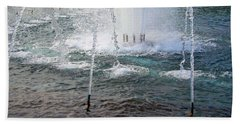 Hand Towel featuring the photograph A World War Fountain by Cora Wandel