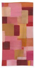 Abstract Squares Bath Towel by Patricia Cleasby