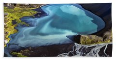 Aerial Photography Hand Towel by Gunnar Orn Arnason