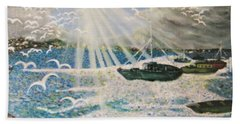Hand Towel featuring the painting After The Storm by Leanne Seymour