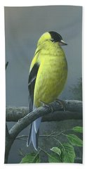 American Goldfinch Bath Towel by Mike Brown