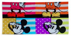 American Mickey Hand Towel by Rob Hans