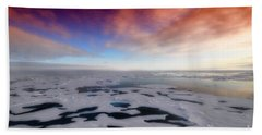 Hand Towel featuring the photograph Arctic Sea Ocean Water Antarctica Winter Snow by Paul Fearn