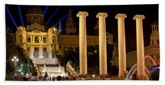 Barcelona By Night Bath Towel