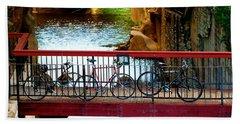 Bikes Over Waller Creek In Austin Bath Towel