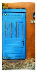 Blue Door In Santa Fe Hand Towel