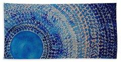 Blue Kachina Original Painting Bath Towel
