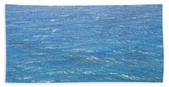Hand Towel featuring the photograph Blue Waters by George Katechis