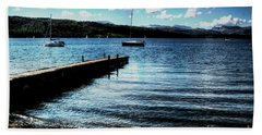 Hand Towel featuring the photograph Boats In Wales by Doc Braham
