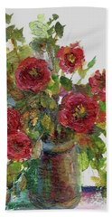 Bath Towel featuring the painting Bouquet Of Poppies by Mary Wolf