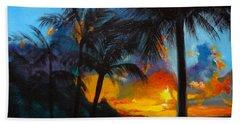 Brilliant Hawaiian Sunset 1 Bath Towel