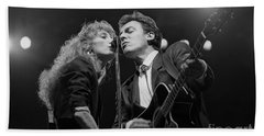 Musicians Patti Scialfa And Bruce Springsteen Hand Towel