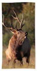Bugling Bull Elk Hand Towel
