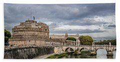 Castle St Angelo In Rome Italy Hand Towel